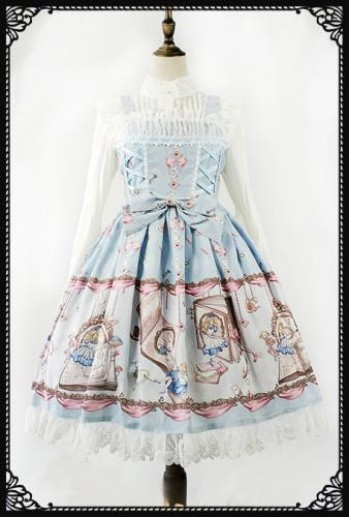 Alice In Wonderland Lolita Dress Pastel Blue