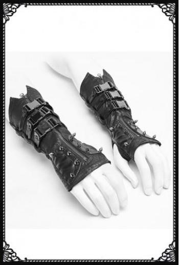 Punk Rave Dieselpunk Spiked Gloves