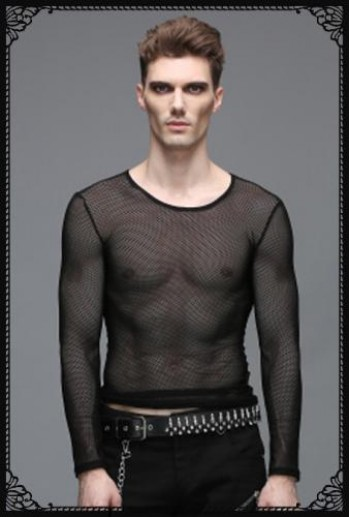 DevilFashion basic design fishnet top(Male)