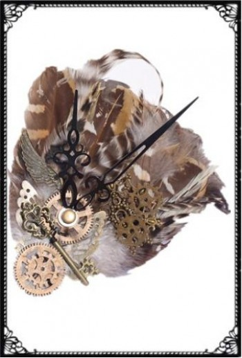 RQ-BL Steampunk feather headress