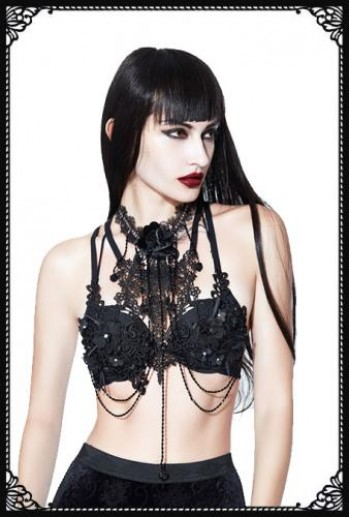 Eva Lady Black Rose Bralette