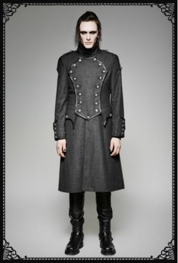 Punk Rave Military Grey Coat