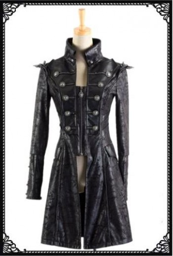 Punk Rave Military uniform spiky coat(Female)