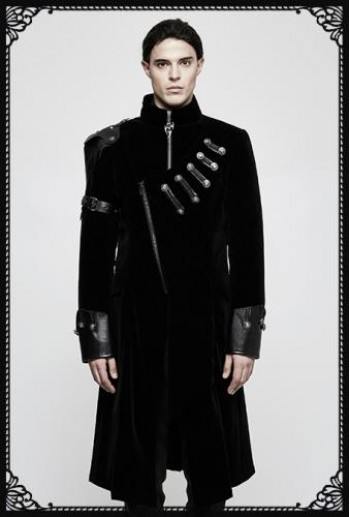 Punk Rave Tenebrous Military Coat