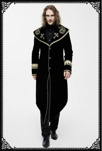Devil Fashion Sorrow Coat in Black and Gold