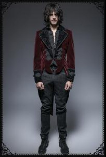 Punk Rave Lanister velvet tail coat
