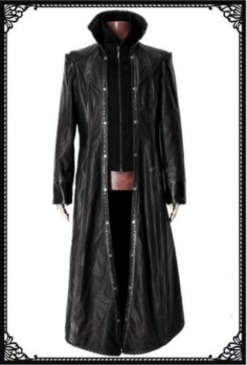 Leather(PU) visual-k Long coat