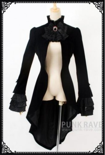 Punk-Rave Female black valour tail coat