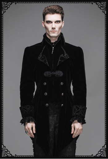 Devil Fashion Vladimir Gothic Coat(BK)