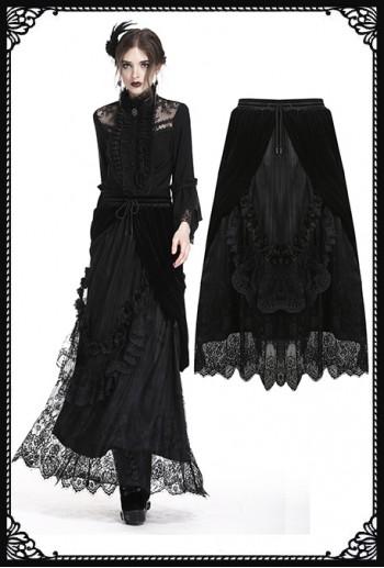 Dark in Love Black Cascade Skirt