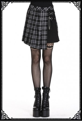 Dark in Love Punk Schoolgirl Skirt