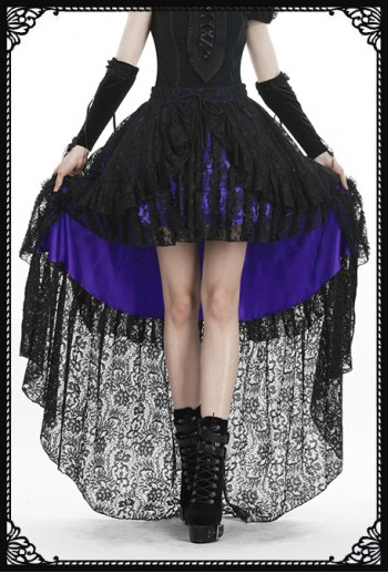 Dark in Love Vanda Black/Purple Skirt