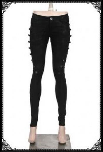 Punk-Rave Gleaming black trouser