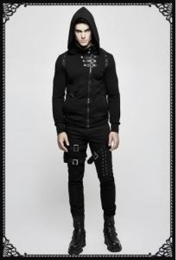 Punk Rave Minotaur Black Denim Trousers Male Version
