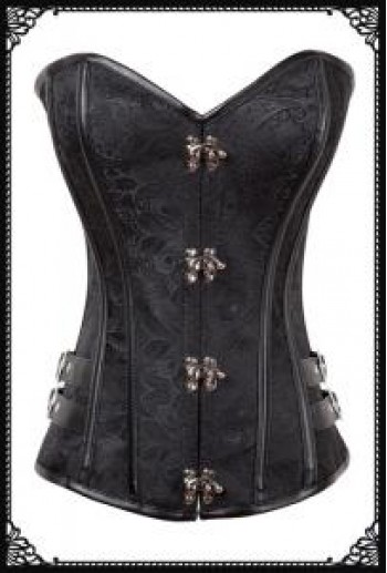 Lilith pattern buckles corset