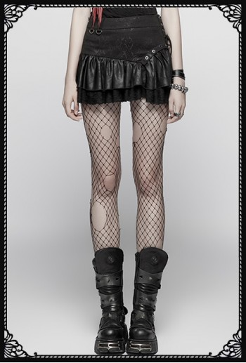 Punk Rave Queen Of Pirates Skirt(BK)
