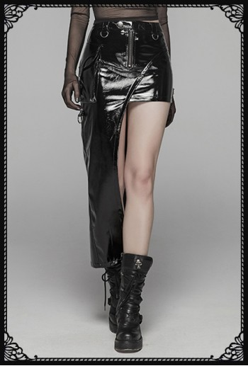 Punk Rave Tanith Asymmetric Skirt