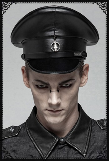 Punk Rave Military Goth Cap