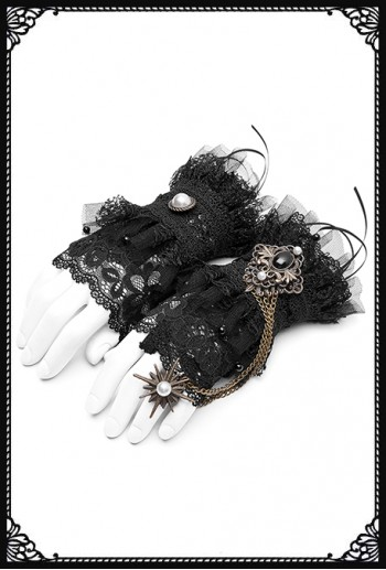 Punk Rave Echo Lace Gloves