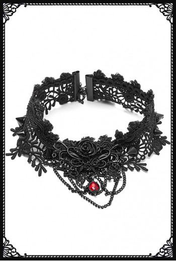 Punk Rave Thorned Lace Choker