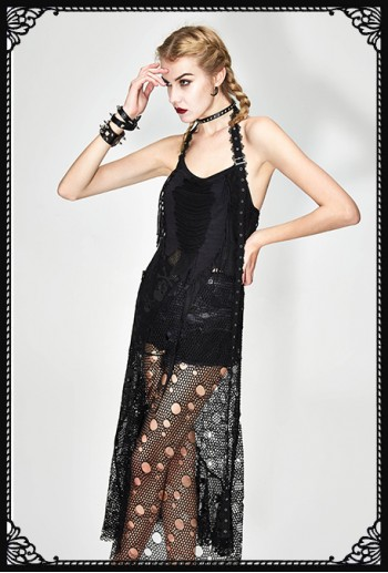 Devil Fashion Net Skull Dress