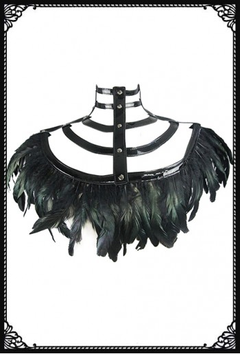 Queen Of The Future Feather Shrug(BK)