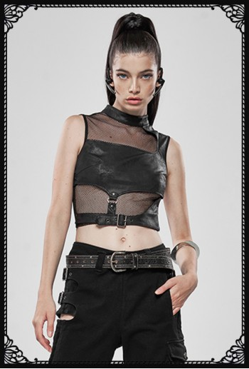 Punk Rave Fightarr Cropped Top