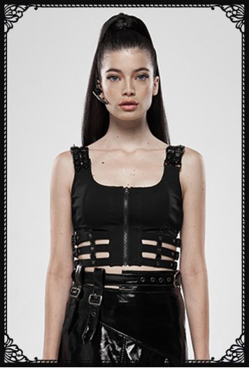 Punk Rave Warz Cropped Top