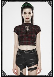 Punk Rave Ella Tartan Cropped Top