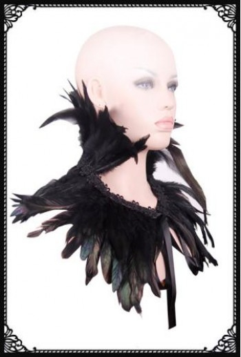 Gothic evening feather shrug