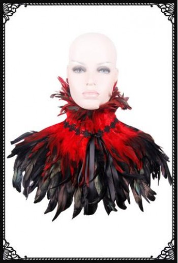 Victorian gothic feather shrug/cape(RD)