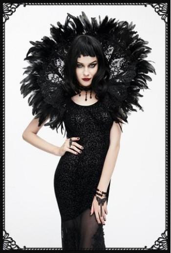 Black Swan Feather Shrug