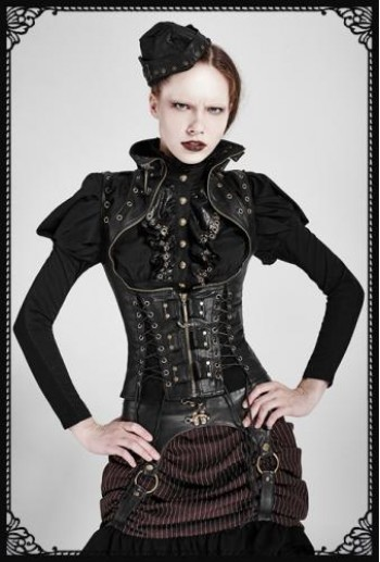 Punk-Rave Steampunk High Collar Vest