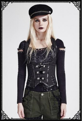 Punk-Rave Military Uniform Vest
