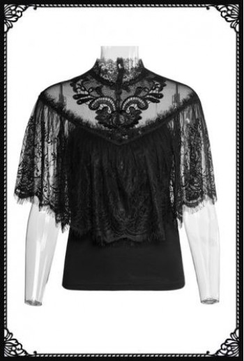 Punk-Rave Lace Shrug Top