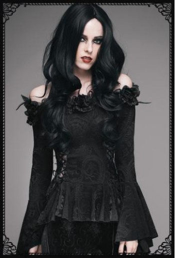 Eva Lady Gothic flower lacy top