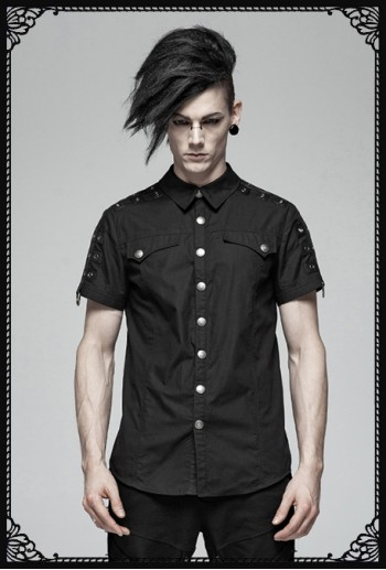 Punk Rave Militery X uniform shirt