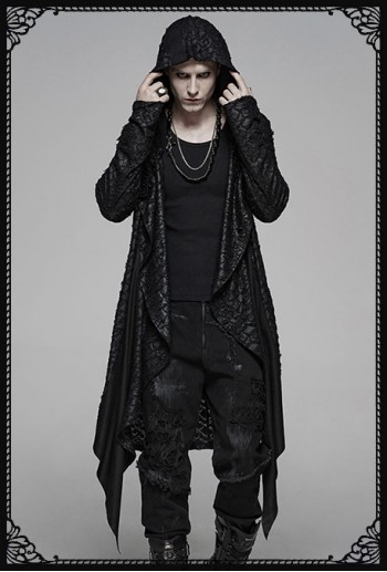 Punk Rave Carbon Hooded Long Coat