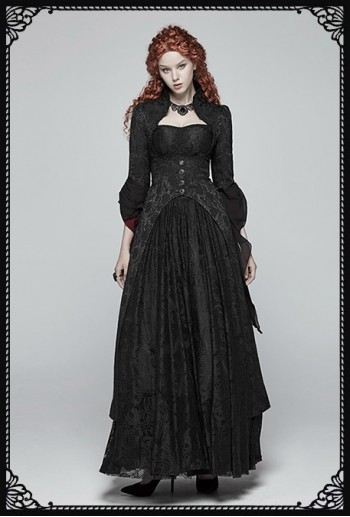 Punk Rave Elvira Gothic Long Bolero Coat
