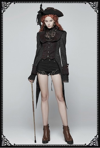 Punk Rave Mistress Vampire Tail Coat