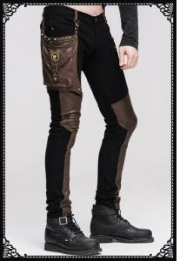 Steampunk hunter trousers(Male BK/BR)