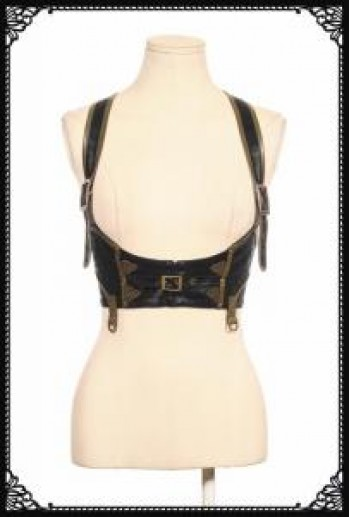 RQ-BL Steampunk chest harness(BK)