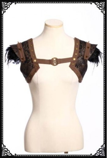 RQ-BL Steampunk girdle vest/ shurg(Co)