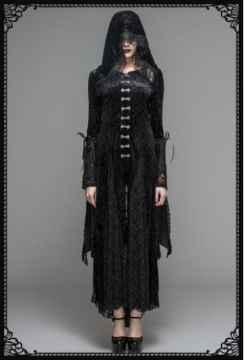 Devil Fashion Gothic Lace Hooded Dress