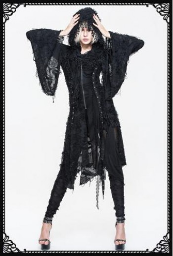 DevilFashion Kimono Sleeve Hooded Coat