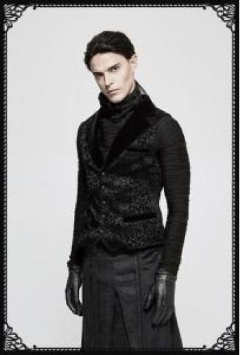 Punk Rave Gyrfalcon Waistcoat in Black