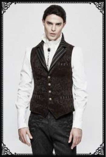 Punk Rave Gyrfalcon Waistcoat in Brown