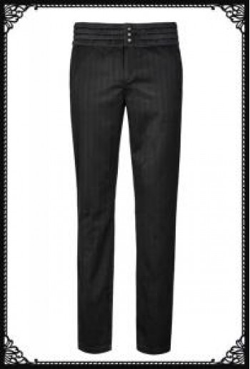 Punk Rave Pinstripe noble trousers