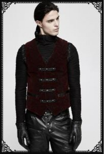 Punk Rave Red Scarecrow Waistcoat(RD)