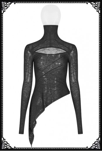 Punk Rave Alla Asymmetric Long-sleeve Shirt